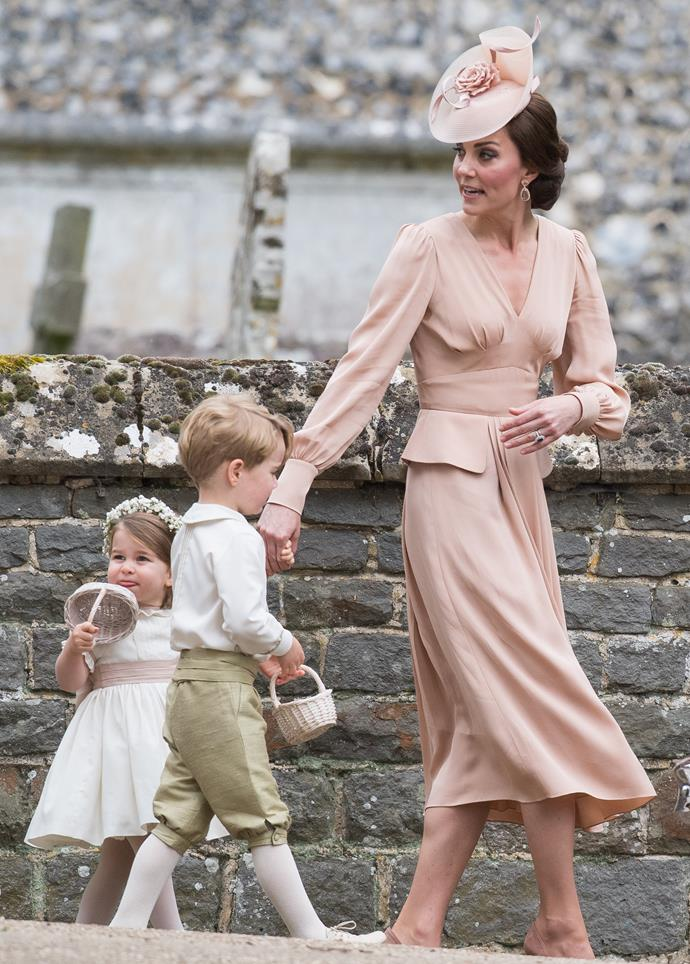 In Alexander McQueen at the wedding of Pippa Middleton to James Matthews in 2017.