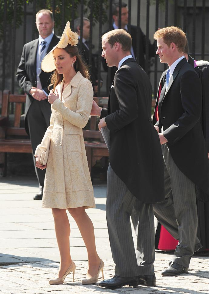 At the wedding of Zara Phillips to Mike Tindall in 2011.
