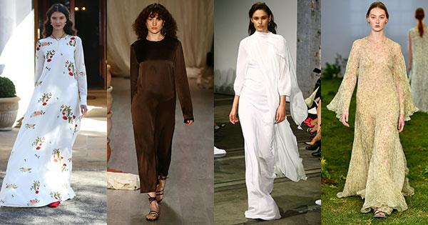 **Modesty dressing: Full-length dresses** <br><br> Macgraw; Albus Lumen; Bianca Spender; Lee Mathews