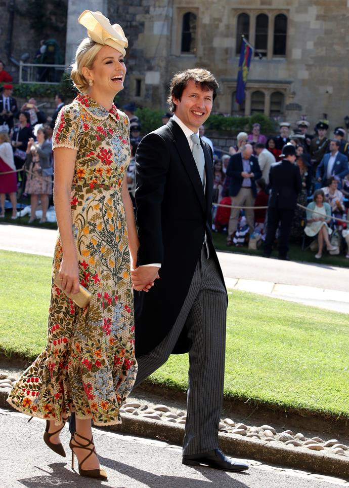Sofia Wellesley and James Blunt  **See more royal wedding coverage here.**  * [All the royal wedding guest outfits you need to see](https://www.harpersbazaar.com.au/fashion/royal-wedding-guest-fashion-16541) * [Your first look at the royal wedding floral arrangements](https://www.harpersbazaar.com.au/culture/royal-wedding-flowers-2-16537) * [How all the royal wedding guest are getting ready for the big day](https://www.cosmopolitan.com.au/celebrity/royal-wedding-famous-guests-26779) * [The official order of service for the wedding ceremony revealed](https://www.harpersbazaar.com.au/culture/royal-wedding-order-of-service-16538) * [The Queen travelled to Windsor Castle with Meghan Markle's dog, Guy](https://www.elle.com.au/celebrity/meghan-markles-dog-queen-windsor-castle-17606)