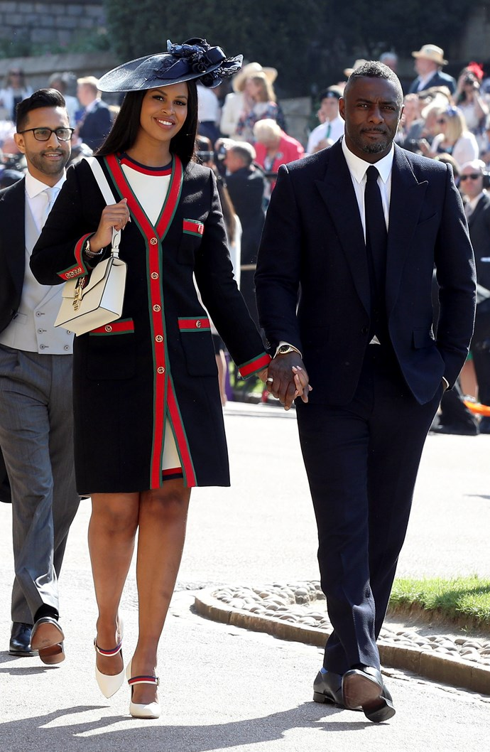 Sabrina Dhowre in Gucci and Idris Elba