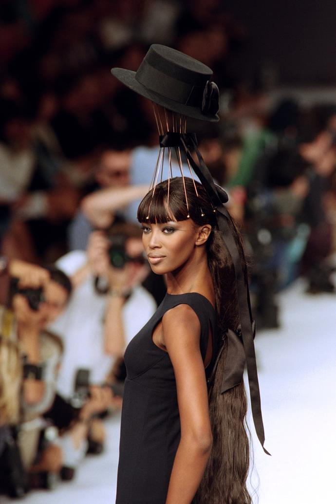 Walking for Chanel Fall-Winter '96.