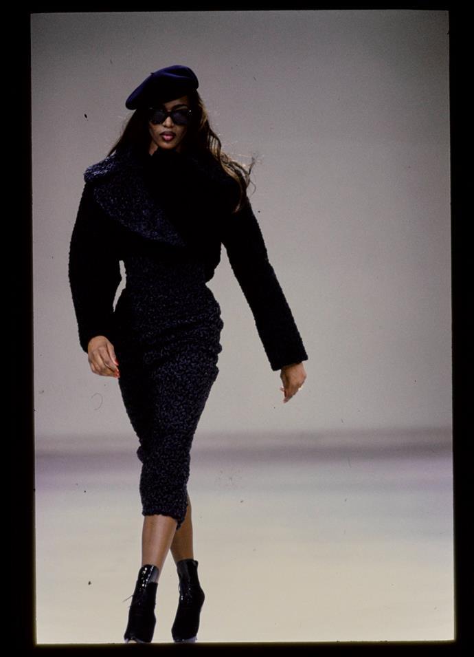 Walking for Alaïa autumn/winter '92.