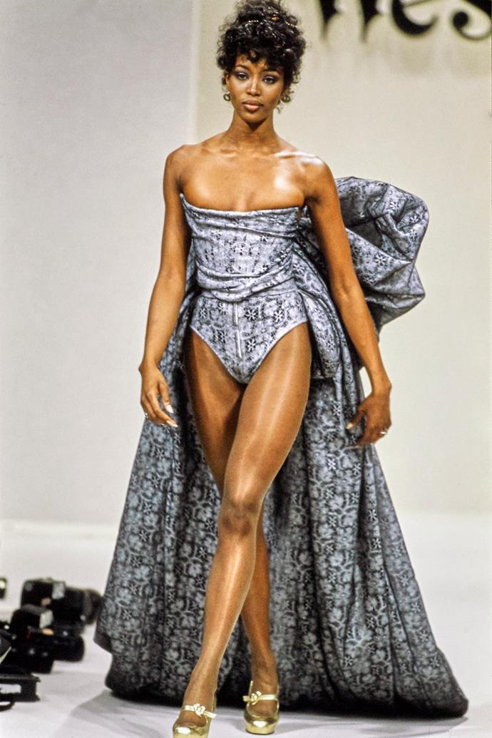 Walking for Vivienne Westwood Fall '94.