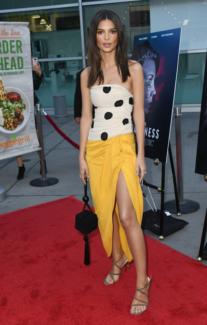Emily Ratajkowski at the 'In Darkness' premiere in Hollywood on 23 May 2018.