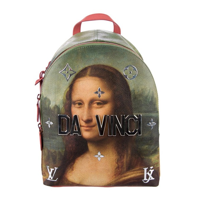 "**Jenna Clarke, digital managing editor:**  <br><br> Carrying a little bit of The Louvre and a whole lot of luxury is how I wish to commute to work or the gym everyday. <br><br> [Jeff Koons x Louis Vuitton backpack](https://www.vestiairecollective.com/women-bags/backpacks/louis-vuitton/leather-louis-vuitton-backpack-5753580.shtml|target=""_blank""