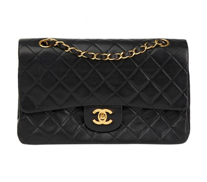 "**Erin Cook, online beauty & lifestyle editor:**  <br><br> A Chanel chain bag has been on must-have list since, well, the dawn of time. I've decided that this vintage bag from Vestiaire Collective is The One. <br><br> [Chanel bag](https://www.vestiairecollective.com/women-bags/handbags/chanel/black-leather-timeless-chanel-handbag-5746574.shtml|target=""_blank""