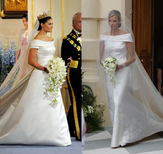 Princess Victoria of Sweden in 2010 and Charlene, Princess of Monaco in 2011.