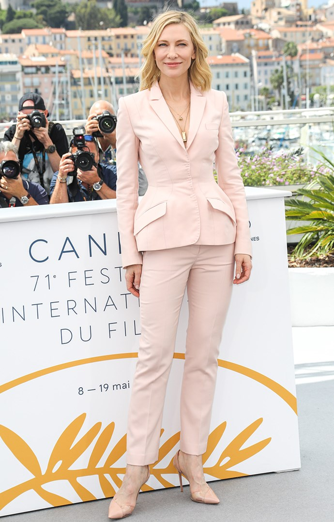 Wearing Stella McCartney at the *Jury* photo call in Cannes on 8 May, 2018.
