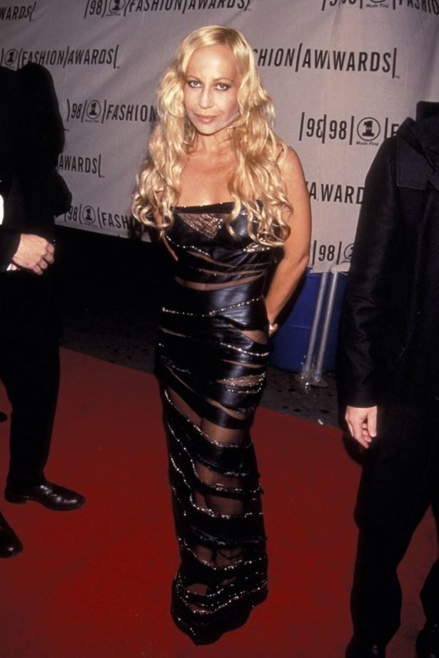 Donatella Versace in 1998.