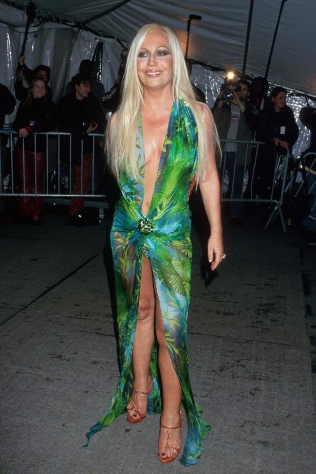 Donatella Versace in 1999.