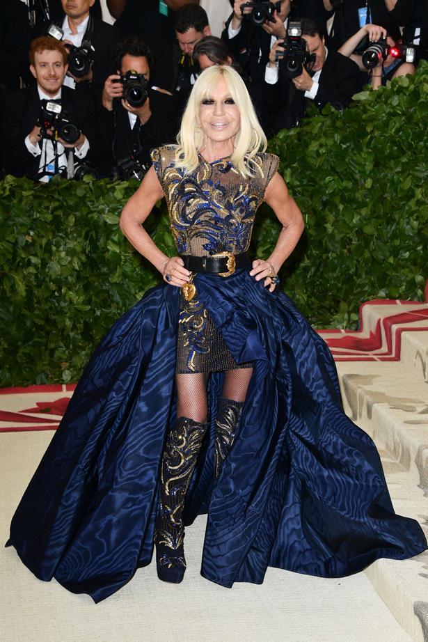 Donatella Versace in 2018.