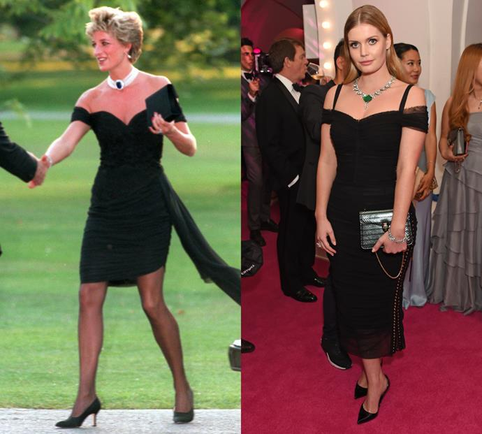 Kitty's even paid homage Diana's iconic revenge dress.