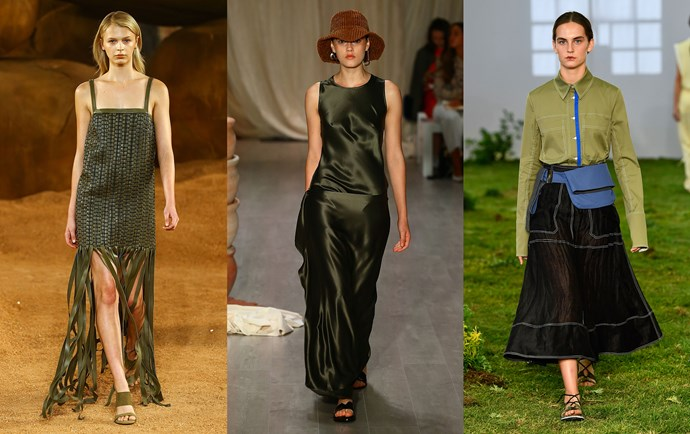 Camilla and Marc Resort '19 (left); Albus Lumen Resort '19 (middle); Lee Mathews Resort '19 (right).