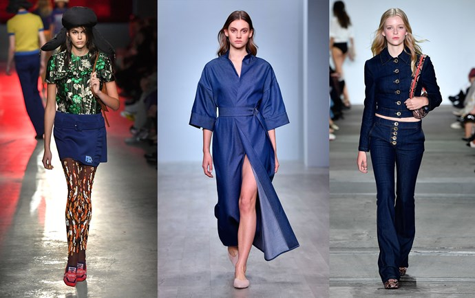 Prada Cruise '19 (left); Pereira Fitzgerald Resort '19 (middle); Hansen & Gretel Resort '19 (right).
