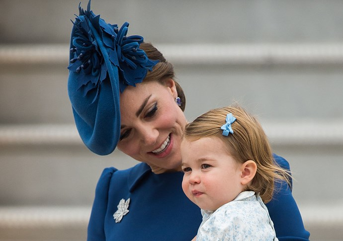 "**She's never fully dressed without a bow in her hair.**   Despite the fact *Annie* taught us ""you're never fully dressed without a smile,"" Princess Charlotte abides by a different rule. The young royal is never seen without a bow in her hair, which almost always matches the colour of her dress."