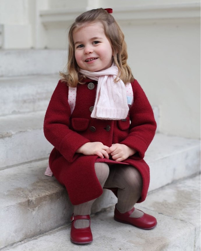 **Mary Janes are her preferred footwear.**   It is comfort? Perhaps. Or consistency? Almost certainly. Much like her dresses and hair accessories, Princess Charlotte has always been seen in Mary Janes, she even wore a white pair at the royal wedding.