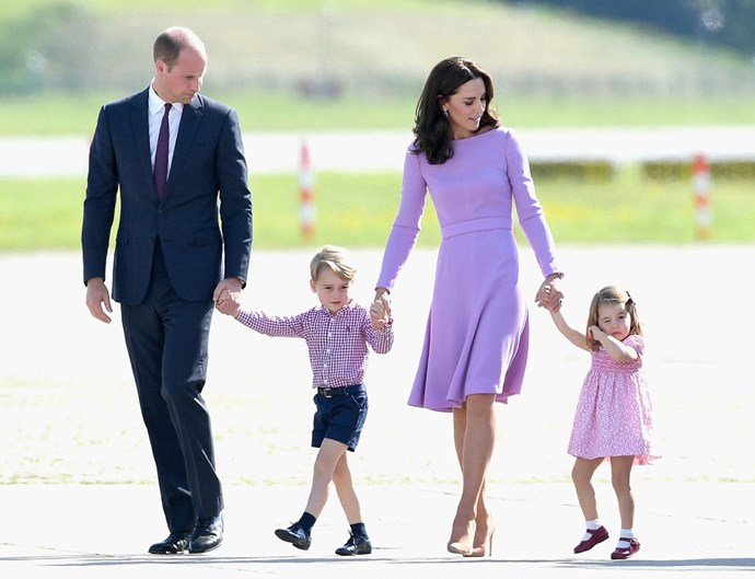 **The family that dresses together, stays together.**   We're not sure if this is a rule, per se, but the Duke and Duchess of Cambridge often dress their family in coordinated colours for formal outings. It happens so often, in fact, that at this point we doubt it's simply a coincidence.