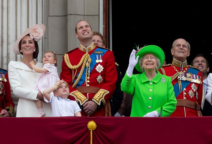 **Princess Charlotte must master the art of the curtsey.**   Protocol often calls for royal women to curtsey to the Queen. We're sure that young Charlotte is already taking lessons on this one.