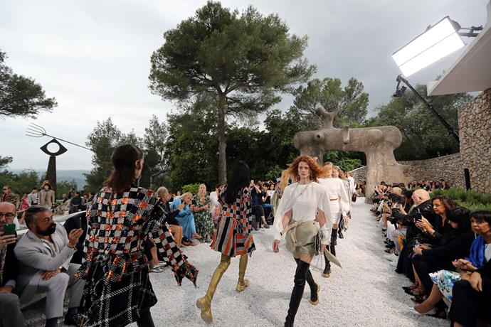 The set for Louis Vuitton Cruise '19 at Fondation Maeght in Saint-Paul de Vence.