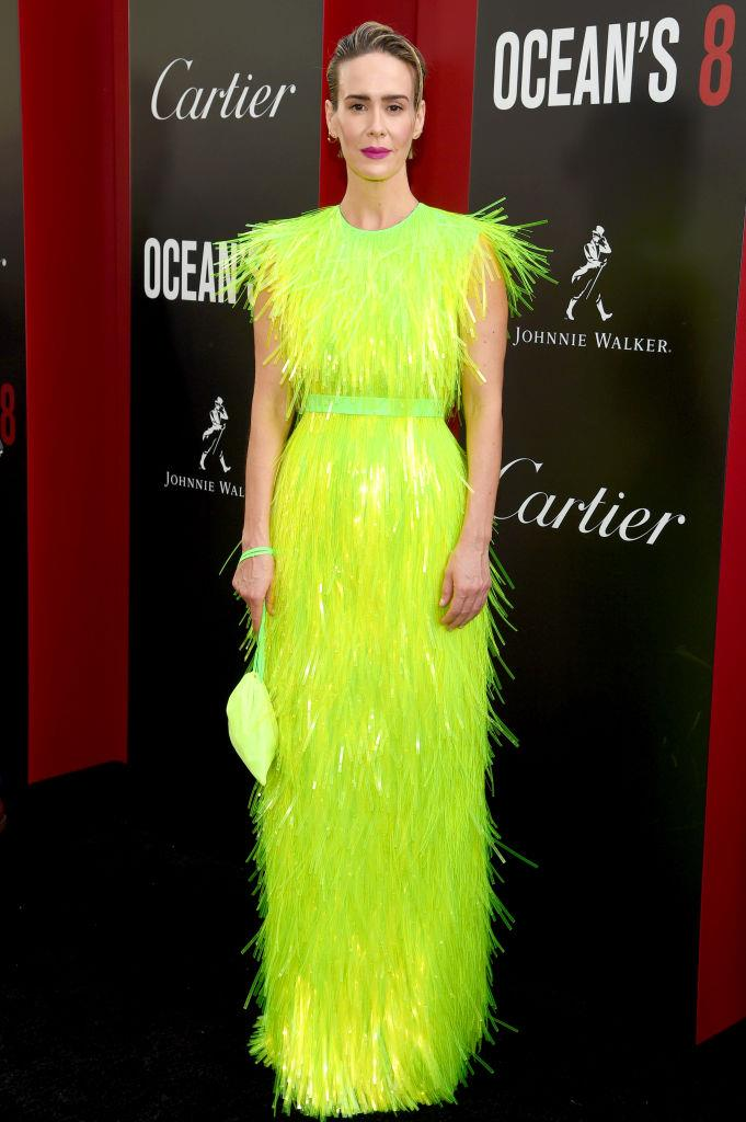 Sarah Paulson in Prada.   Image: Getty
