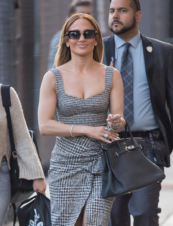 With a charcoal Hermès Birkin in Los Angeles on 5 June, 2018