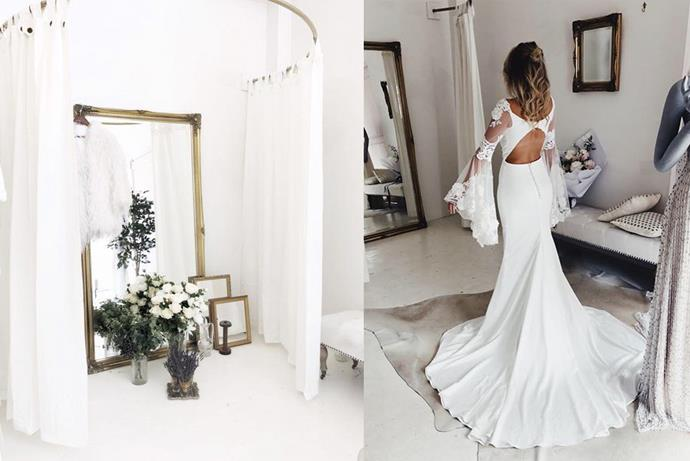 "**Eastern Suburbs** <br><br> **[The Babushka Ballerina](https://www.babushkaballerina.com/|target=""_blank""), Woollahra** <br><br> Designers: Delila Fox, Match Made Bridal, Anna Campbell, Love Found True, Catherine Deane, Divine Atelier, Romantique by Claire Pettibone. <br><br> *14 Dwyer Ln, Woollahra NSW* <br><br> *Instagram[@babushkaballerina](https://www.instagram.com/babushkaballerina/