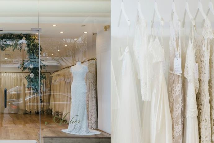 "**Eastern Suburbs**  <br><br> **[The Bridal Atelier](https://www.thebridalatelier.com.au/|target=""_blank""), Double Bay**  <br><br> Designers: Rue De Seine, Christos Costarellos, Lovers Society, Theia Couture, Anna Campbell, Sarah Seven, Prea James  <br><br> *27 Bay St, Double Bay NSW* <br><br> *Instagram[@thebridalatelier](https://www.instagram.com/thebridalatelier/