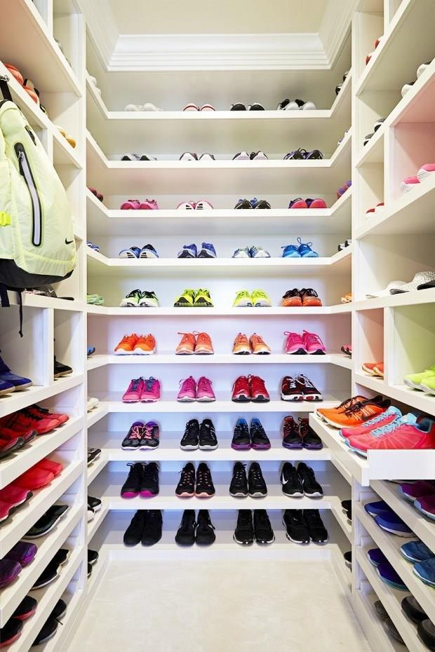 ... Is her dedicated exercise closet.<bR><br> Image via KhloeWithAK.com.