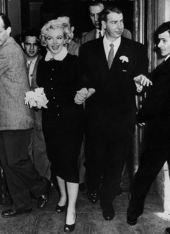 Marilyn Monroe and Joe Dimaggio, 1954