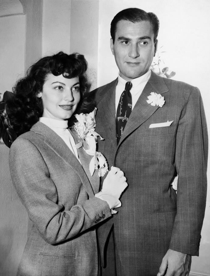 Ava Gardner and Artie Shaw, 1945
