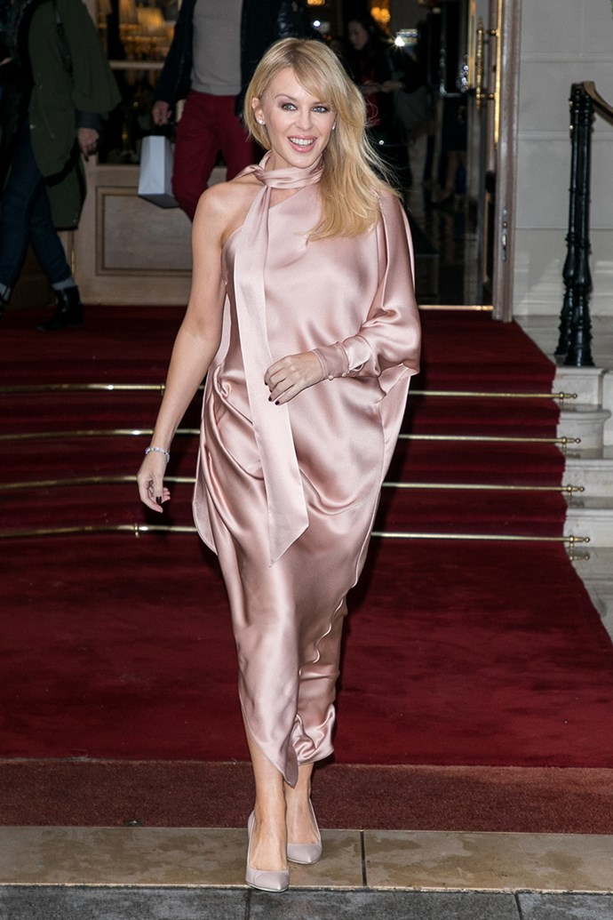 Kylie Minogue in Paris on 22 January, 2018