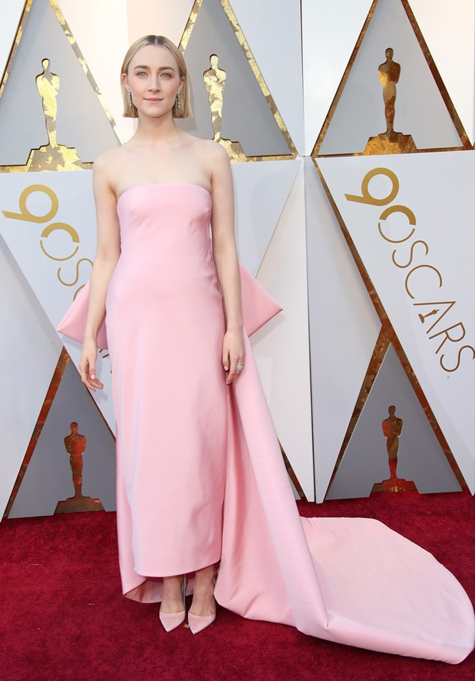 Saoirse Ronan at the Oscars Awards in Hollywood on 4 March, 2018