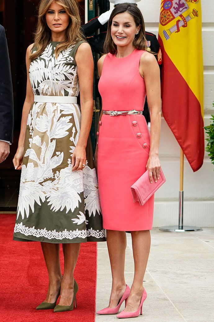 Queen Letizia of Spain at the White House on 19 June, 2018