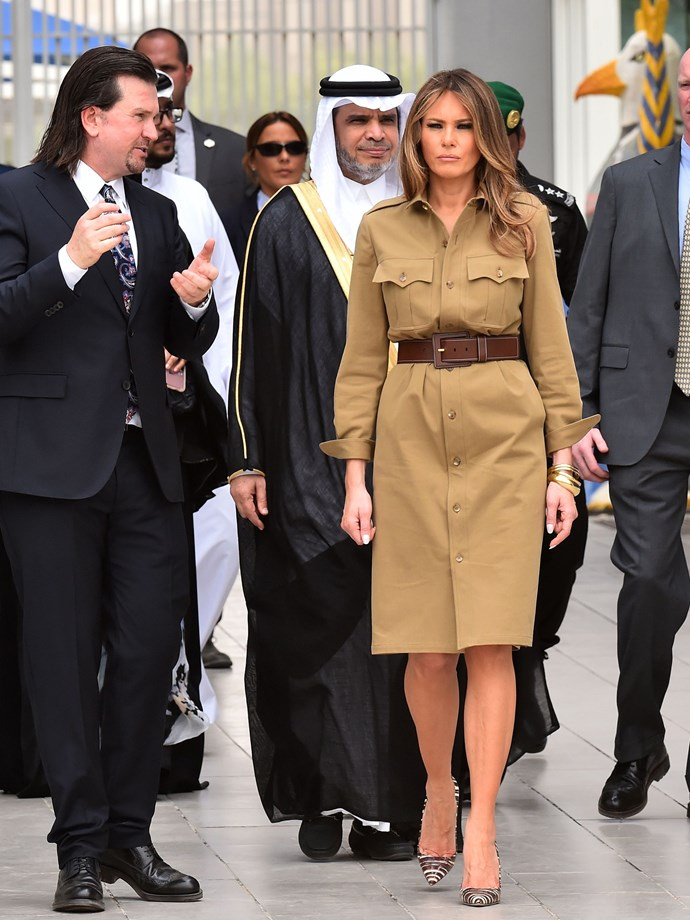 """**FIFTH MOST CONTROVERSIAL: MAY 2017** <br><br> While Michelle Obama was critiqued for [not wearing a headscarf](https://www.telegraph.co.uk/news/worldnews/michelle-obama/11373787/Michelle-Obama-causes-outrage-in-Saudi-Arabia-by-not-wearing-headscarf.html