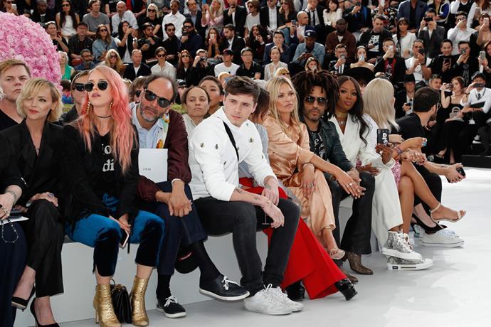 Christina Ricci, Luca Guadagnino, Brooklyn Beckham, Victoria Beckham, Kate Moss, Lenny Kravitz and Naomi Campbell