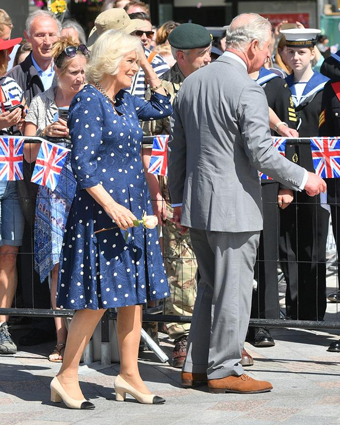 Camilla, the Duchess of Cornwall, and Charles, Prince of Wales in Salisbury on 22nd June, 2018