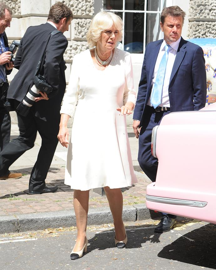 Camilla, the Duchess of Cornwall, at the Oriental Club in London on 21st June, 2018