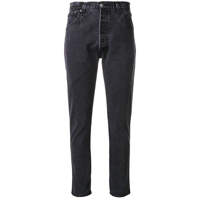 "**Erin Cook, digital beauty editor**  <br><br> Now that winter is well and truly upon us, I find myself wearing jeans almost every day. With that in mind, I feel like I can totally justify dropping a few hundred on a pair of these Re/Done classic fit jeans.   <br><br> Re/Done jeans, $240, from [Farfetch](https://www.farfetch.com/au/shopping/women/re-done-classic-fitted-jeans-item-12283784.aspx?storeid=9843|target=""_blank""