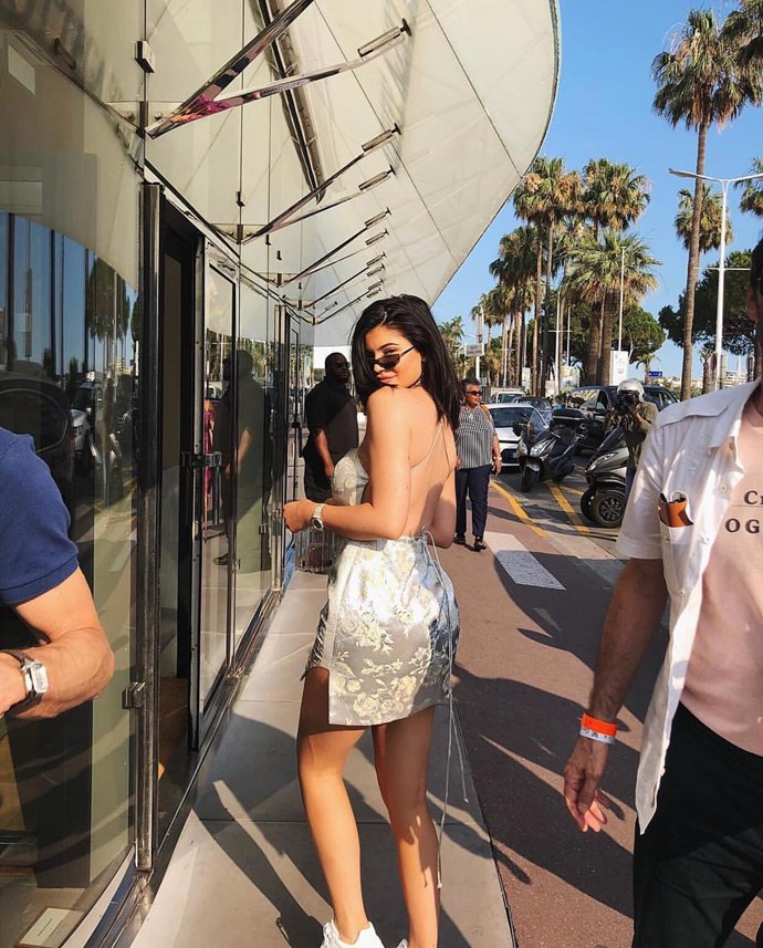 **Manning Cartell**  <br><Br> Kylie Jenner is spotted shopping in Paris wearing the Manning Cartell Kyoto Calling Floral Brocade Mini Dress.