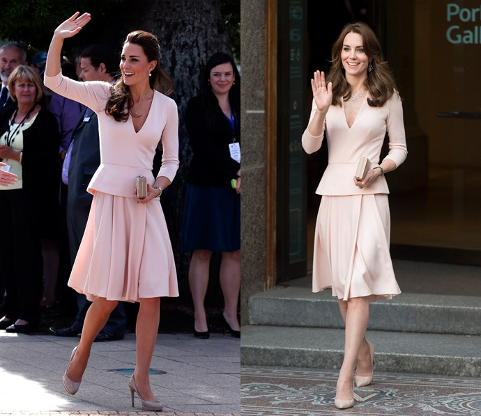 ***Pink Alexander McQueen suit***<br> This pink set from McQueen was seen once in 2014 and once in 2016.