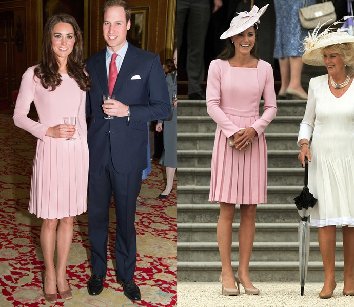 ***Pink Emilia Wickstead dress***<br> This custom Emilia Wickstead dress was made for Kate in three different colours. The pink is a particular favourite.