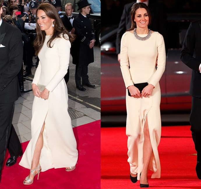 ***Cream Roland Mouret dress***<br> As is this one by Roland Mouret, worn twice in 2012 and 2013.