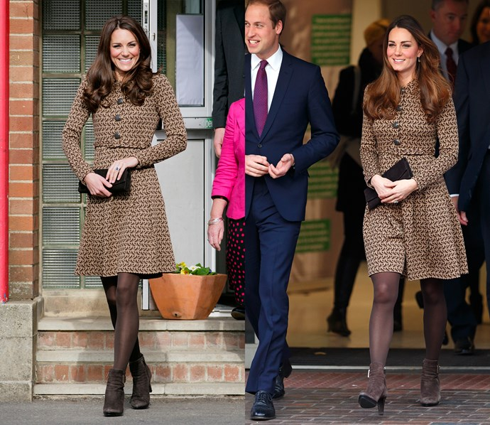 ***Orla Kiely dress***<br> Kate loved this Orla Kiely dress so much, she wore the entire outfit from head-to-toe twice.