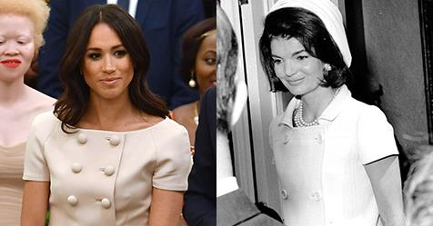 Meghan Markle Channels Jackie Kennedy In Prada Suit