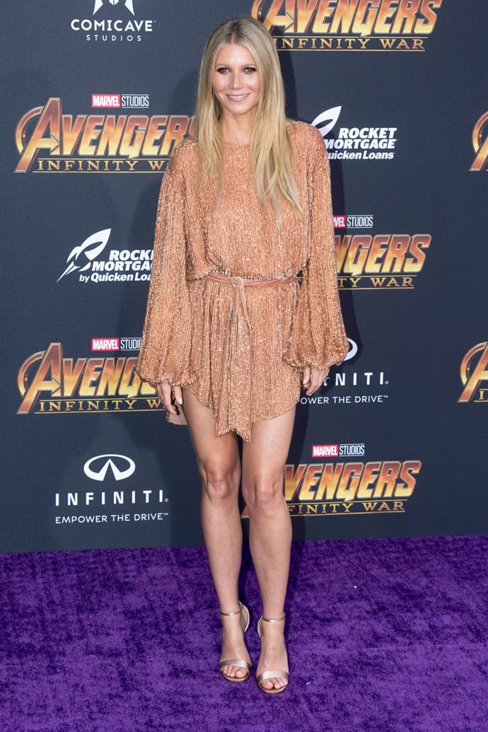 Wearing Retrofête at the *Avengers: Infinity War* World Premiere in Los Angeles on 23 April, 2018