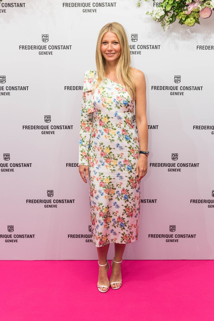 Wearing Emilia Wickstead at the 'Gwyneth Paltrow x Frederique Constant' Timepiece launch on 21 June, 2018
