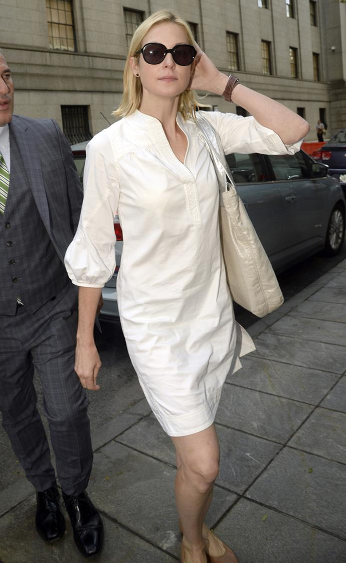 Kelly Rutherford at Manhattan Federal Court for a child custody dispute with ex-husband Daniel Gierson in August, 2014