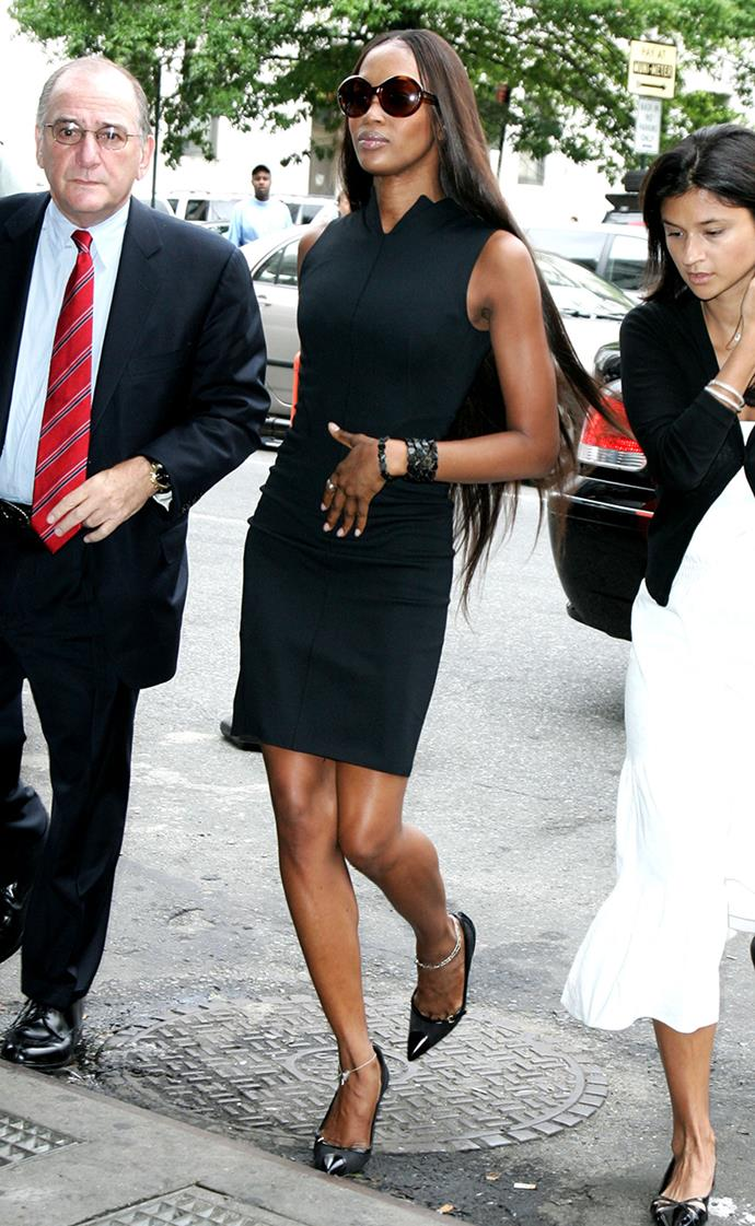 Naomi Campbell at Manhattan Courthouse on charges of assaulting her maid in June, 2006