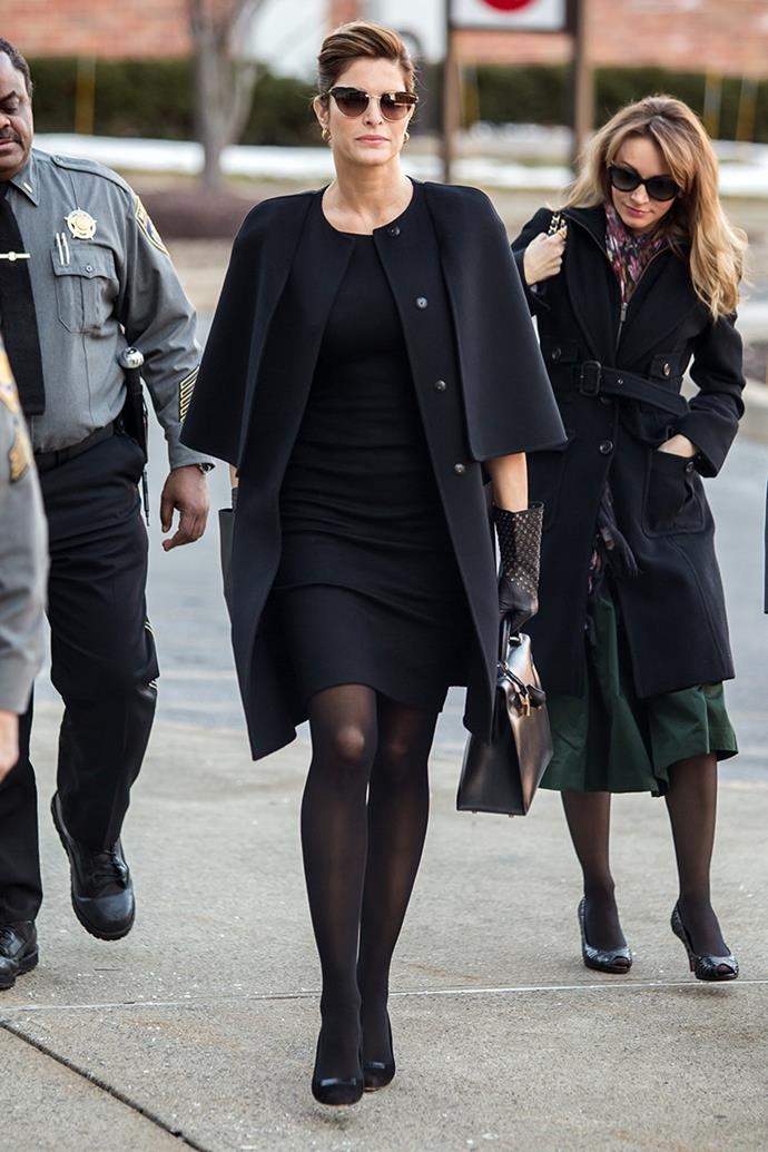 Stephanie Seymour at Stamford Superior Court facing DUI charges in February, 2016